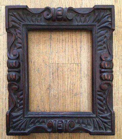 Cadre en bois sculpté monoxyle La vue : 18...