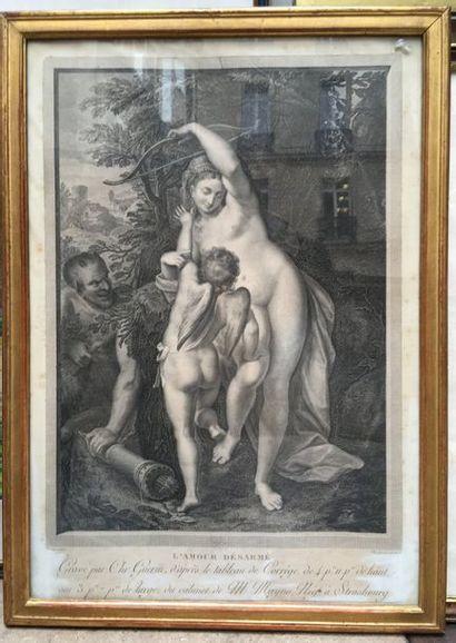 Gravure du XVIIIème siècle, d'après Luca...
