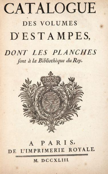 CATALOGUE DES VOLUMES D'ESTAMPES, dont les...