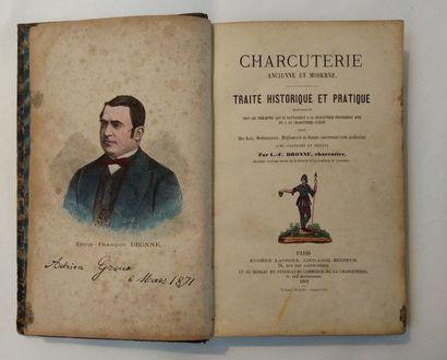 CHARCUTERIE. — DRONNE (Louis-François). Charcuterie...