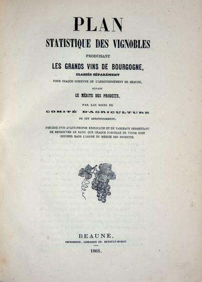 BOURGOGNE. — Plan statistique des vignobles...