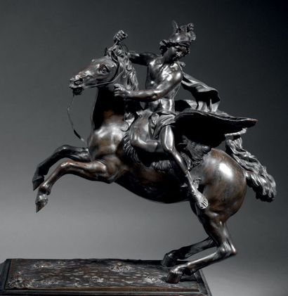 ÉCOLE FRANÇAISE CIRCA 1710, D'APRÈS ANTOINE COYSEVOX (1640-1720) La Renommée du Roi...