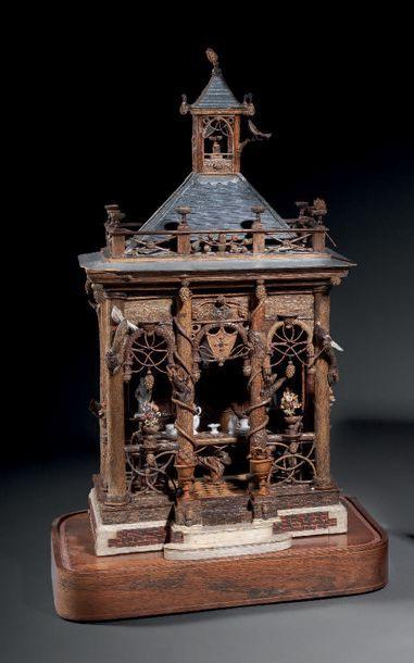 PAVILLON CHINOISANT en pagode en branchages...