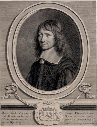 Robert NANTEUIL (1623-1678) Louis II Prince de Condé, H. Courtin, Maréchal de Créqui,...