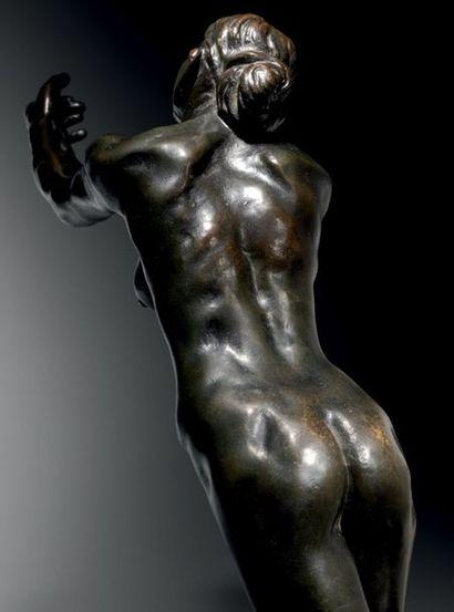 Camille CLAUDEL (1864-1943) L'Implorante Épreuve en bronze patiné Signée, porte le...