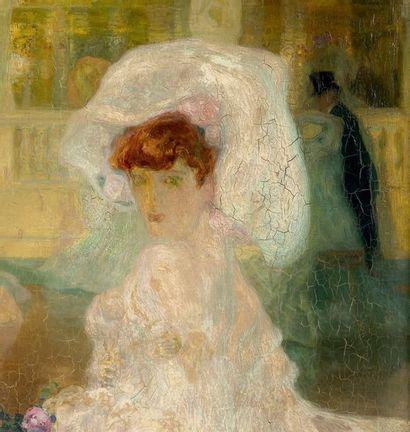 Hermenegildo ANGLADA-CAMARASA (1871-1959) Fleurs de Paris, 1902-1903 Huile sur panneau...