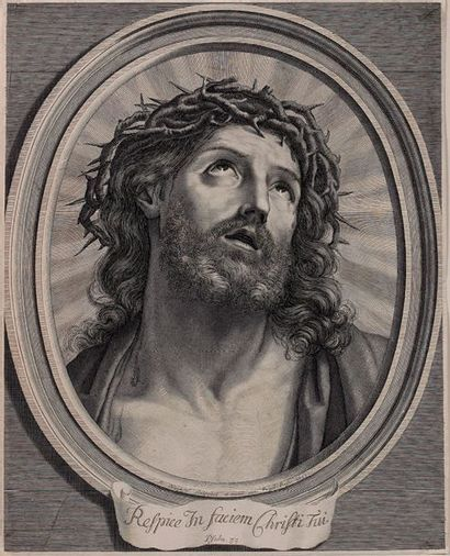 Robert NANTEUIL (1623-1678) Ecce Homo - Mater Dolorosa. Burin, belles épreuves coupées...