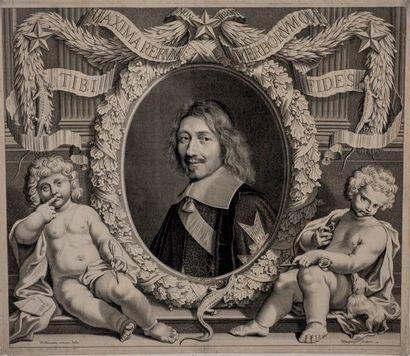 Robert NANTEUIL (1623-1678) Michel le chancelier Le Tellier, Ch.-M. Le Tellier, F....