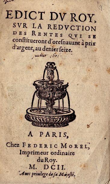 PIÈCES HISTORIQUES DU XVIe SIECLE SUR LA...