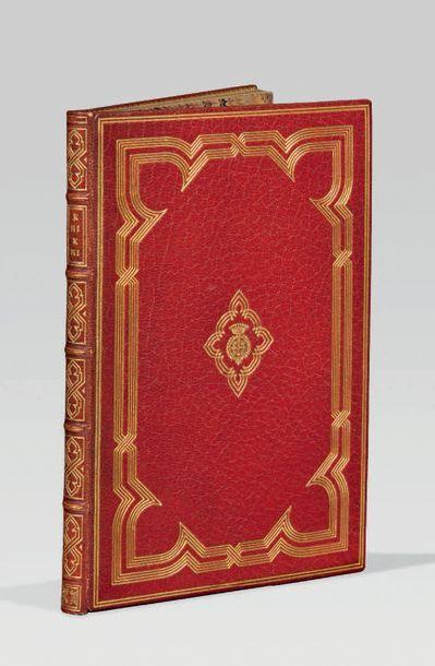 HALÉVY (Ludovic). Karikari. Paris, Librairie L. Conquet, 1888. In-12, maroquin rouge,...
