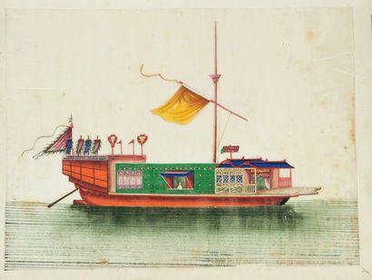 ALBUM DE DESSINS CHINOIS. S.l.n.d. [XIXe...