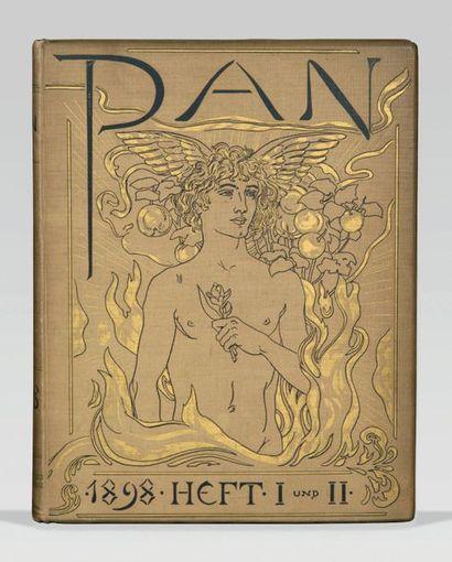 REVUE. - Pan. Berlin, avril 1895-avril 1900. 10 volumes in-folio, cartonnage toile...