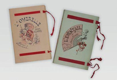 UZANNE (Octave). L'Éventail. Paris, A. Quantin, 1882. - L'Ombrelle. Le gant. Le manchon....
