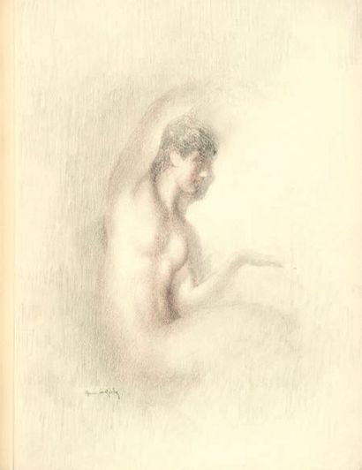 LE RICHE (Henri). Pages bibliques. S.l.n.d. [1938]. In-folio, maroquin noir, décor...