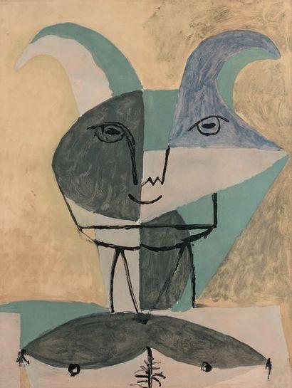 Pablo PICASSO (1881-1973) (d'après) 4 pl. (sur 12) de l'album Faunes et flore d'Antibes....