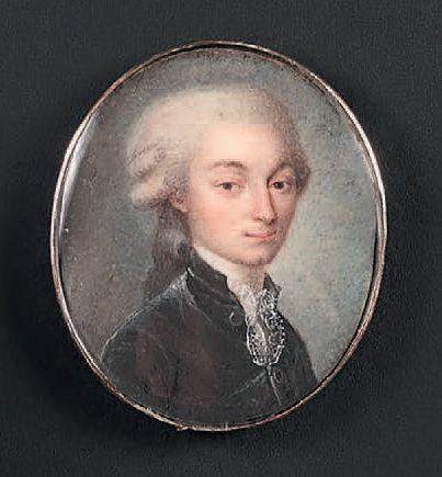 ÉCOLE DE LOUIS-MARIE SICARD DIT SICARDI (1743-1825) Portrait d'homme de qualité en...