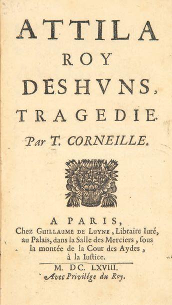 Attila roy des Huns, tragédie. Par T. Corneille....