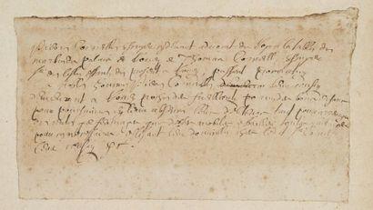 Projet de procuration autographe de Corneille....