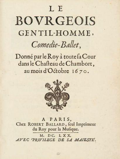 Le Bourgeois gentil-homme, Comédie-Ballet,...