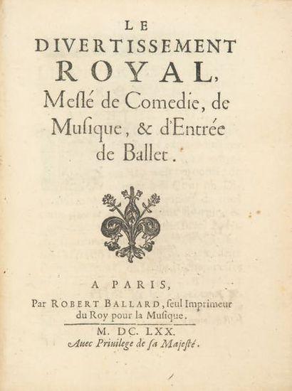 Le Divertissement royal, Meslé de Comédie,...