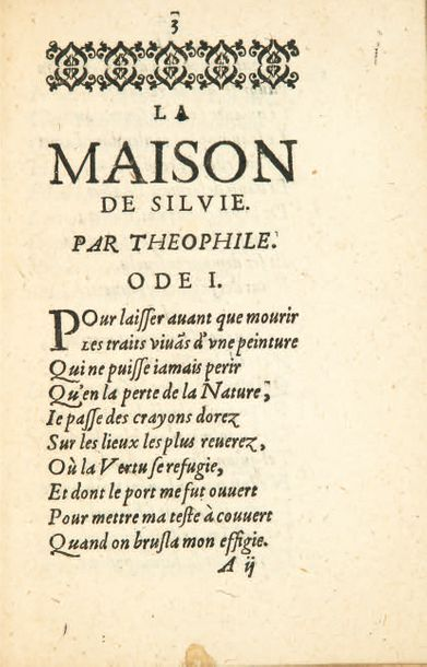 THÉOPHILE DE VIAU 1590-1626