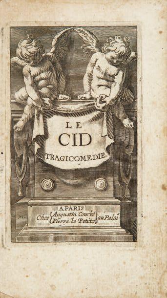 CORNEILLE 1606-1684 Le Cid. Tragicomédie. Paris, François Targa, Augustin Courbé,...