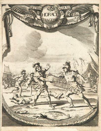 Horace. Paris, Augustin Courbé, 1641. In-4, bradel vélin à recouvrement, dos lisse...