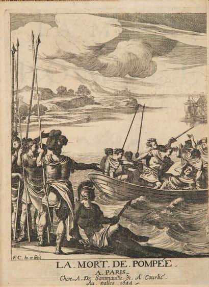 La Mort de Pompée. Tragédie. Paris, Antoine de Sommaville & Augustin Courbé, 1644....