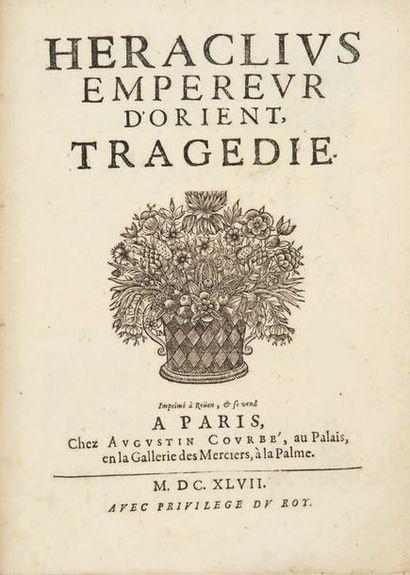 Héraclius, empereur d'Orient. Imprimé à Rouen et se vend à Paris, Augustin Courbé,...