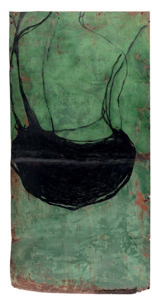 Jean-Charles BLAIS (1956) Sans titre, 1993 Technique mixte sur plaque de fer 202...