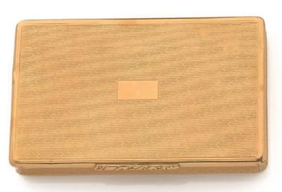 Boîte rectangulaire en or jaune 18K (750)...