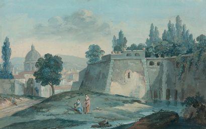 Ecole Française du XIXe siècle dans le goût du XVIIIe siècle