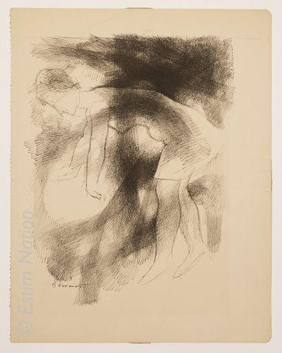 ART CONTEMPORAIN - ESTRUGA Oscar ESTRUGA ANDREU (1933)    Composition surréaliste...