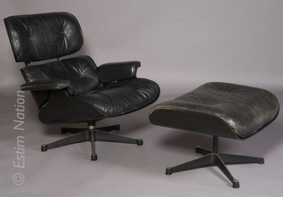 """DESIGN - EAMES Charles (1907-1978) & Ray EAMES (1912-1988)    Fauteuil """"Easy Lounge""""..."""