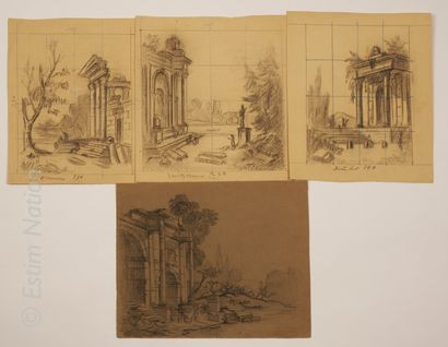 D'après Hubert ROBERT D'après Hubert ROBERT (1733-1808) et dans le goût d'Hubert...