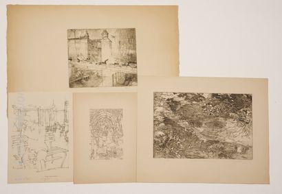 Art contemporain Pierre GETZLER (1938)    Contribution I    Dessin à l'encre sur...