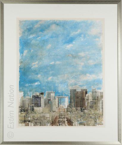 ART CONTEMPORAIN - PARIS Gottfried SALZMANN (1943)    Vue de la Défense    Technique...
