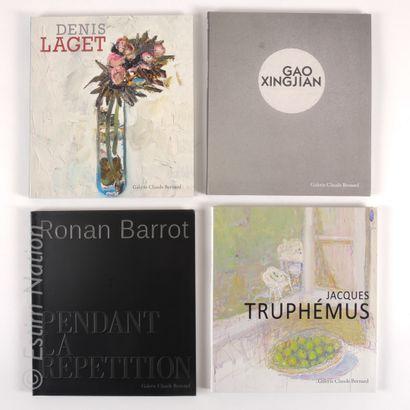LOT DE LIVRES Ensemble de 8 livres sur le thème de l'ART CONTEMPORAIN. Galerie CLAUDE...