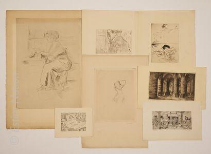 ART MODERNE - ESTAMPES Ensemble d'estampes du XXe siècle comprenant :  - Robert LEPELTIER...