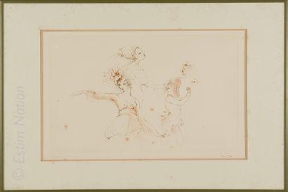 Art du XXe siècle Léonor FINI (1908-1996)    Danseuses    Lithographie, signée au...