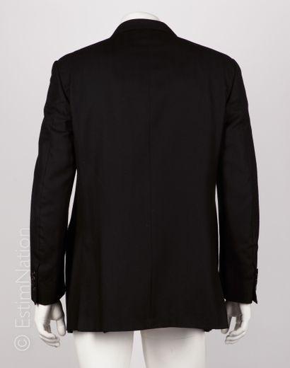 LANVIN VESTE en cachemire noir (T 54) (petites taches sur manche droite, petite patine...