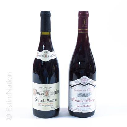 BEAUJOLAIS BEAUJOLAIS  2 bouteilles : 1 SAINT-AMOUR 2012 Domaine des Darrèzes, 1...