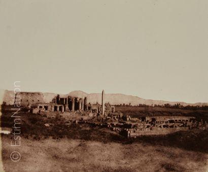 Félix TEYNARD (Français, 1817-1892) Karnak, Thèbes - Vue générale des ruines prise...