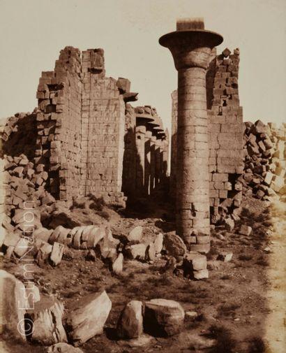 Félix TEYNARD (Français, 1817-1892) Karnak, Thèbes - Cour du Palais - Vue prise du...