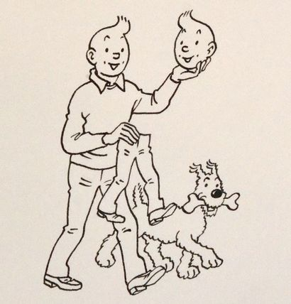 HERGÉ / TINTIN Collection Jean-Paul Rouland HERGE (1907-1983) TINTIN - Exceptionnelle...