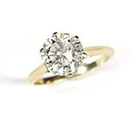 BAGUE OR ET DIAMANT BAGUE en or gris 18k (7500/00), ornée d'une diamant rond brillanté...