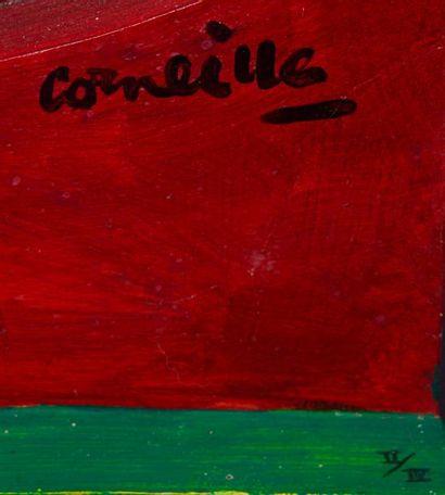 """CORNEILLE (GUILLAUME CORNELIS VAN BEVERLOO DIT) (1922-2010) """"Couple à l'oiseau"""" Sculpture..."""