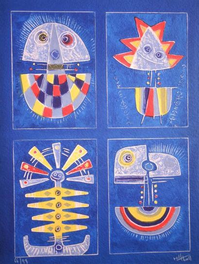 Rolf BALL (né en 1945) TITRE : Carborundum I  TECHNIQUE : Gravure au carborundum...