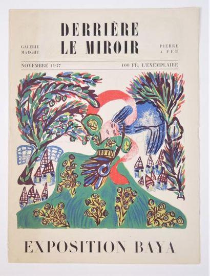 DERRIERE LE MIROIR  N° 6  - BAYA - 1947