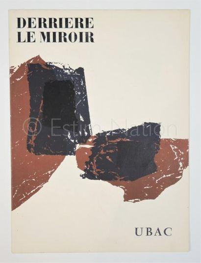 DERRIERE LE MIROIR N° 105 - 106 - UBAC -  1958